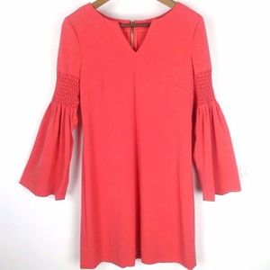Phoebe Couture Bell Sleeve Coral Dress Sz 6